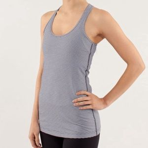 lululemon cool racerback gingham inkwell long tank